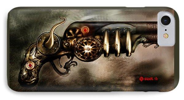 Steam Punk Pistol Mk II IPhone Case by Kim Gauge