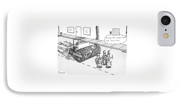 Steam Roller Driving Behind A Marching Band IPhone Case by Zachary Kanin
