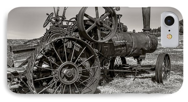 Steam Tractor - Molson Ghost Town Phone Case by Daniel Hagerman