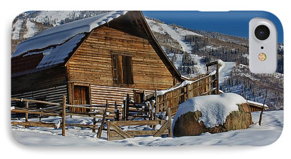 Steamboat Barn IPhone Case by Don Schwartz