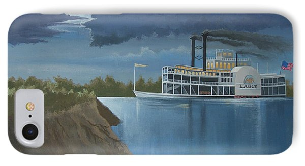 Steamboat On The Mississippi Phone Case by Stuart Swartz