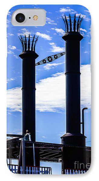 Steamboat Smokestacks On The Natchez Steam Boat Phone Case by Paul Velgos