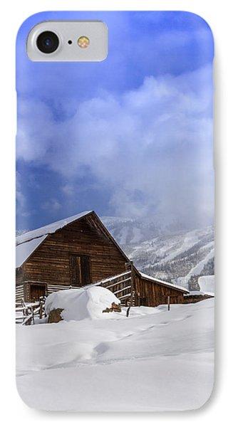 Steamboat Springs Barn History Phone Case by Teri Virbickis