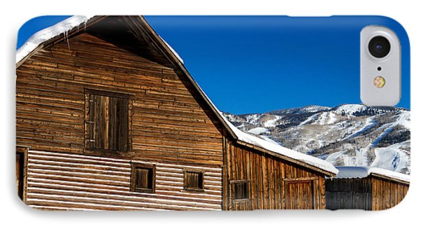 Steamboat Springs Historic Barn Phone Case by Teri Virbickis