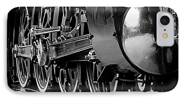 IPhone Case featuring the photograph Steamer Up 844 Wheels by Bartz Johnson
