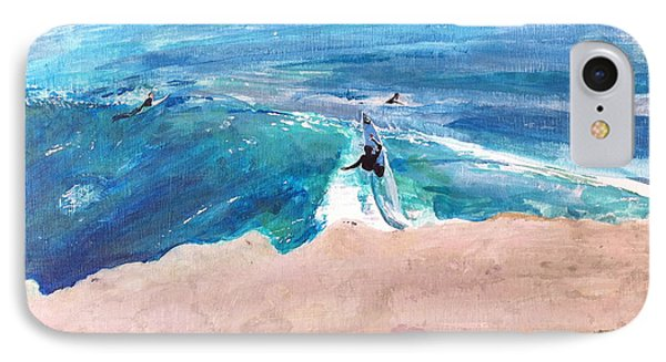 Steamer Lane IPhone Case by Peter Forbes