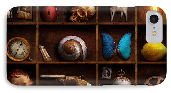 Steampunk - A Box Of Curiosities Phone Case by Mike Savad