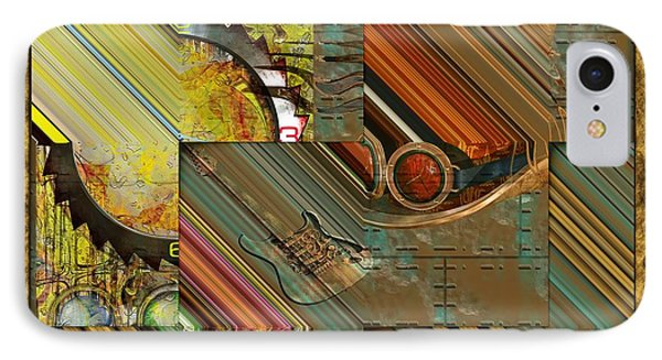 Steampunk Abstract Phone Case by Liane Wright