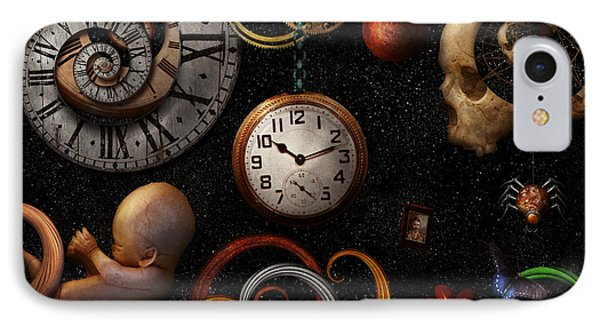 Steampunk - Abstract - The Beginning And End Phone Case by Mike Savad