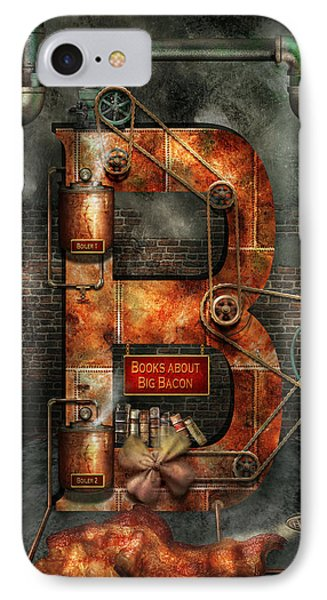 Steampunk - Alphabet - B Is For Belts IPhone Case by Mike Savad