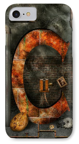Steampunk - Alphabet - C Is For Chain IPhone Case by Mike Savad
