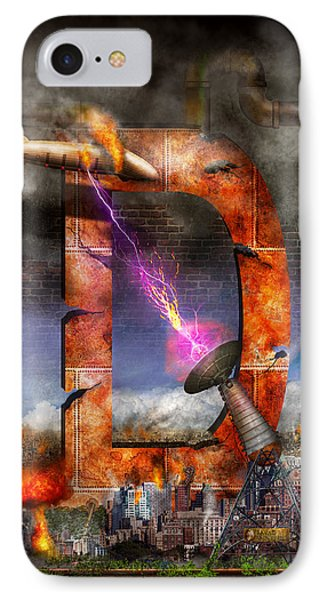 Steampunk - Alphabet - D Is For Death Ray IPhone Case by Mike Savad