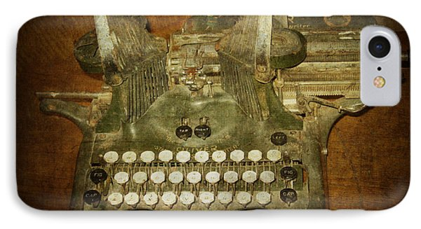 Steampunk Antique Typewriter Oliver Company IPhone Case by Svetlana Novikova