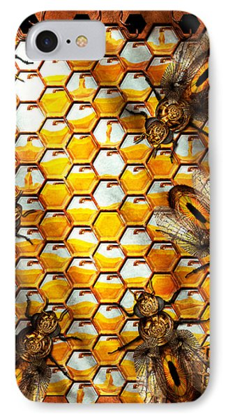 Steampunk - Apiary - The Hive Phone Case by Mike Savad
