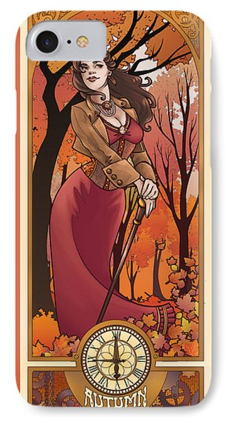 Steampunk Autumn Phone Case by Dani Kaulakis