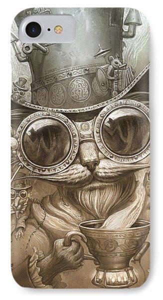 Steampunk Cat IPhone Case by Jeff Haynie