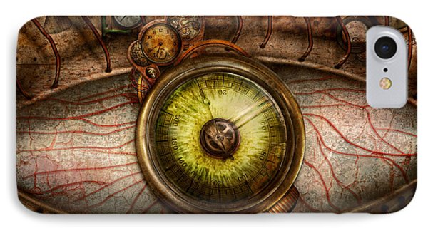 Steampunk - Creepy - Eye On Technology  Phone Case by Mike Savad