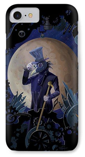 Crow iPhone 7 Case - Steampunk Crownman by Sassan Filsoof