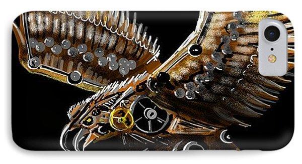 #steampunk #eagle #eagleds2 #bird IPhone Case by David Burles