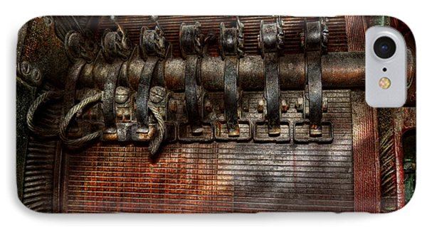 Steampunk - Electrical - Motorized  Phone Case by Mike Savad