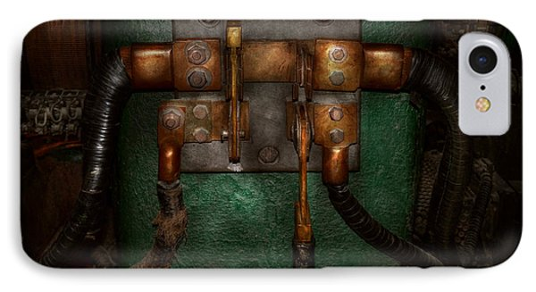 Steampunk - Electrical - Pull The Switch  Phone Case by Mike Savad