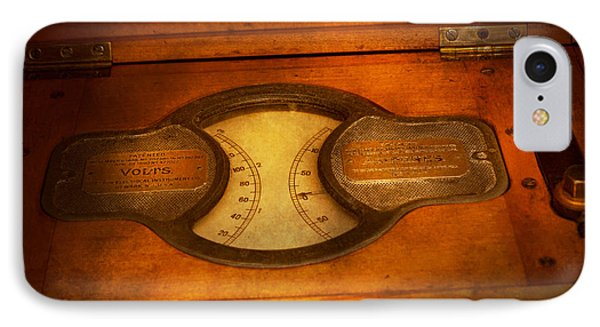 Steampunk - Electrician - The Portable Volt Meter Phone Case by Mike Savad