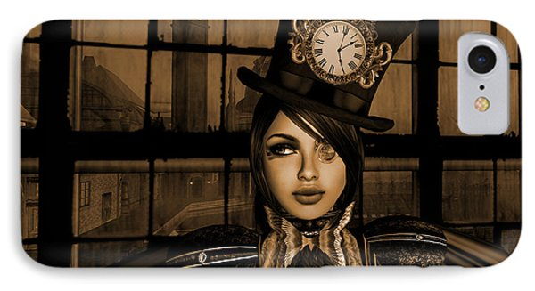Steampunk Factory Captain I  IPhone Case by Amanda Holmes Tzafrir
