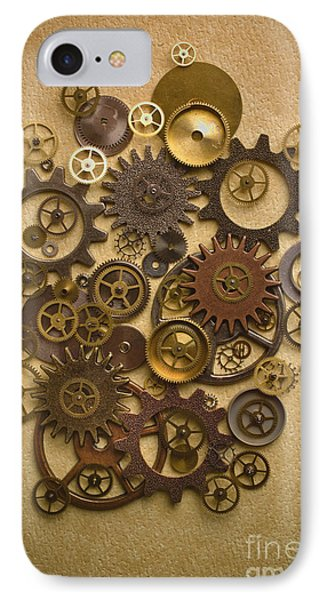 Steampunk Gears IPhone Case by Diane Diederich