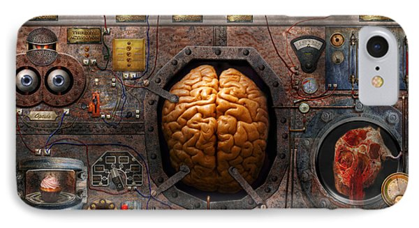 Steampunk - Information Overload IPhone Case by Mike Savad