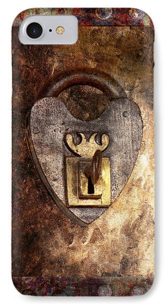 Steampunk - Locksmith - The Key To My Heart Phone Case by Mike Savad