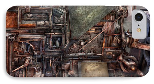 Steampunk - Machine - All The Bells And Whistles  Phone Case by Mike Savad