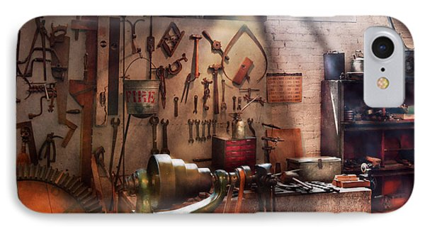 Steampunk - Machinist - The Inventors Workshop  Phone Case by Mike Savad