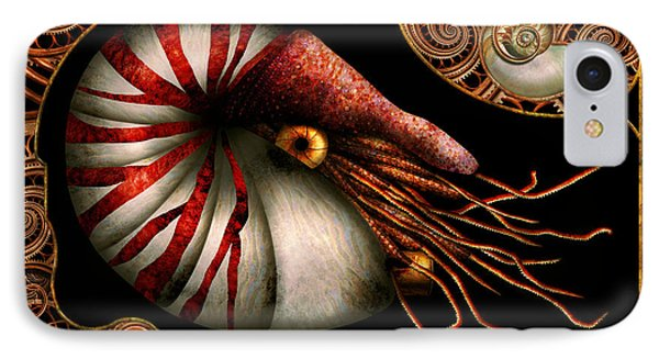Steampunk - Nautilus - Coming Out Of Your Shell Phone Case by Mike Savad