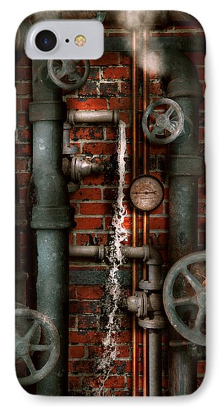 Steampunk - Plumbing - Pipes And Valves IPhone Case by Mike Savad