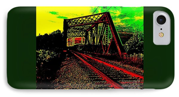 Steampunk Railroad Truss Bridge IPhone Case by Peter Gumaer Ogden