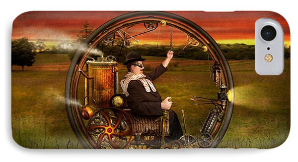 Steampunk - The Gentleman's Monowheel IPhone Case by Mike Savad