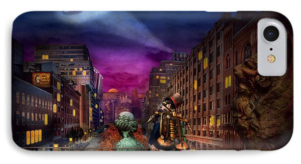 Steampunk - The Great Mustachio Phone Case by Mike Savad