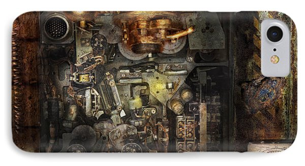 Steampunk - The Turret Computer  Phone Case by Mike Savad
