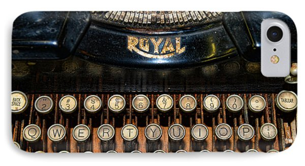 Steampunk - Typewriter -the Royal Phone Case by Paul Ward