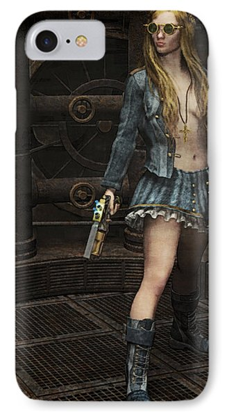 Steampunk Vixen Phone Case by Maynard Ellis