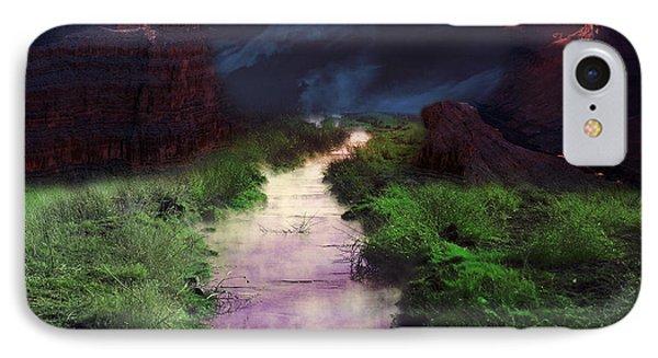 Steamy Creek IPhone Case by Gunter Nezhoda