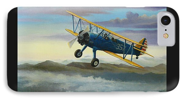 Stearman Biplane IPhone Case by Stuart Swartz