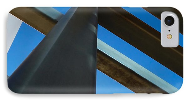 Steel Blue - Industrial Abstract Phone Case by Steven Milner