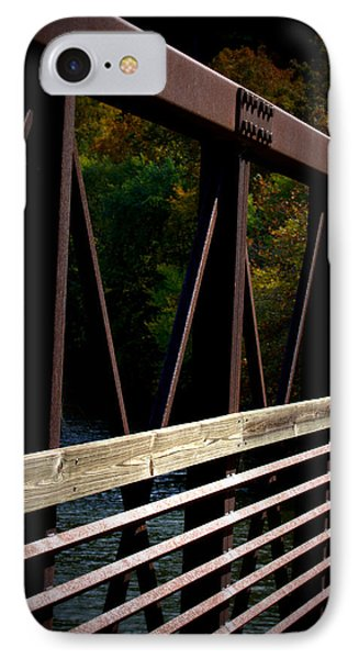 IPhone Case featuring the photograph Steel Lines by Cathy Shiflett