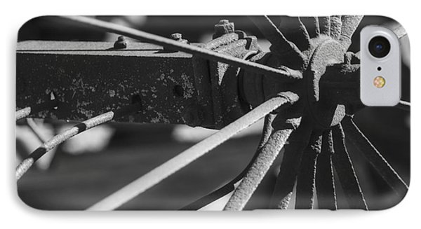 Steel Wagon Wheel IPhone Case by JRP Photography