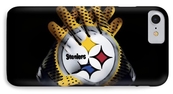 Steelers Gloves IPhone Case by Gayle Price Thomas