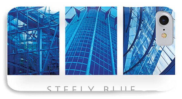 IPhone Case featuring the digital art Steely Blue The Art Of Building Poster by David Davies