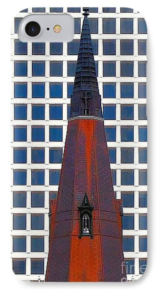 IPhone Case featuring the photograph Steeple And Office Building by Janette Boyd