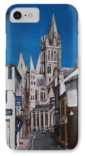 IPhone Case featuring the painting Steeples by Cherise Foster