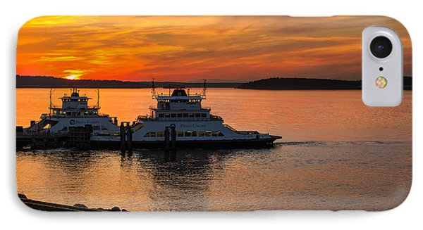 Steilacoom Ferry's At Sunsets IPhone Case
